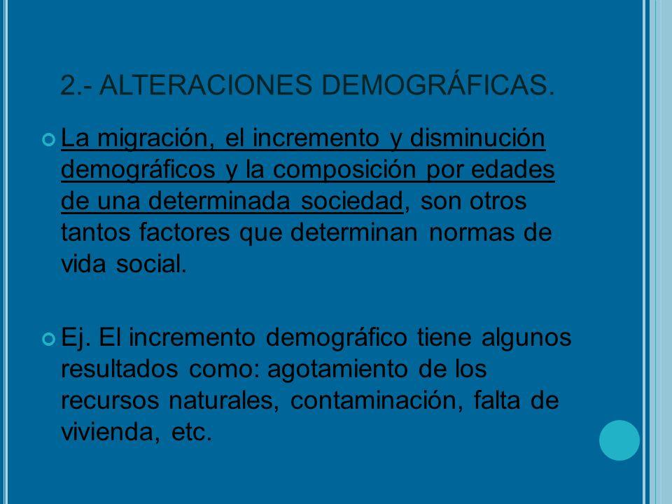 2.- ALTERACIONES DEMOGRÁFICAS.