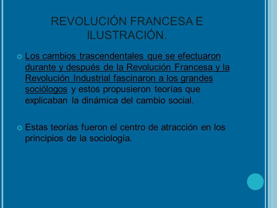 REVOLUCIÓN FRANCESA E ILUSTRACIÓN.