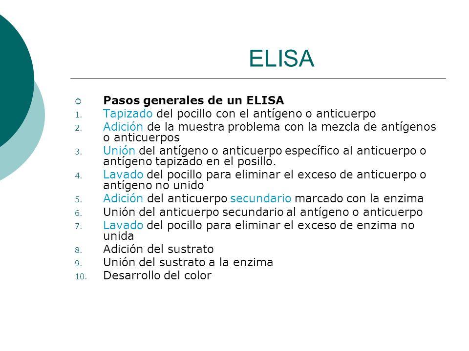 ELISA Pasos generales de un ELISA