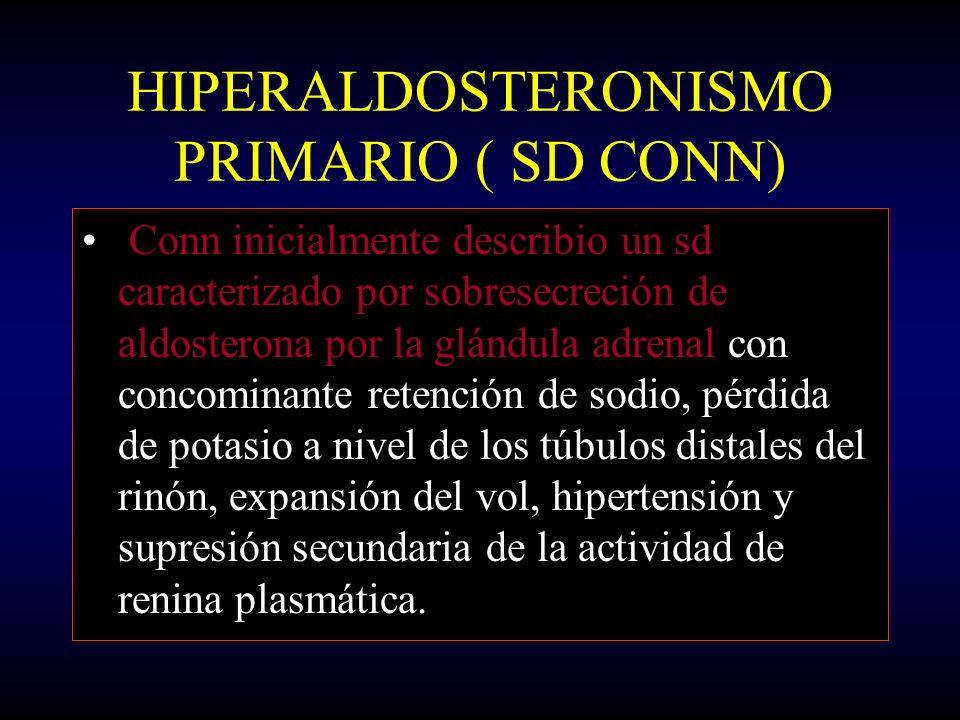 HIPERALDOSTERONISMO PRIMARIO ( SD CONN)