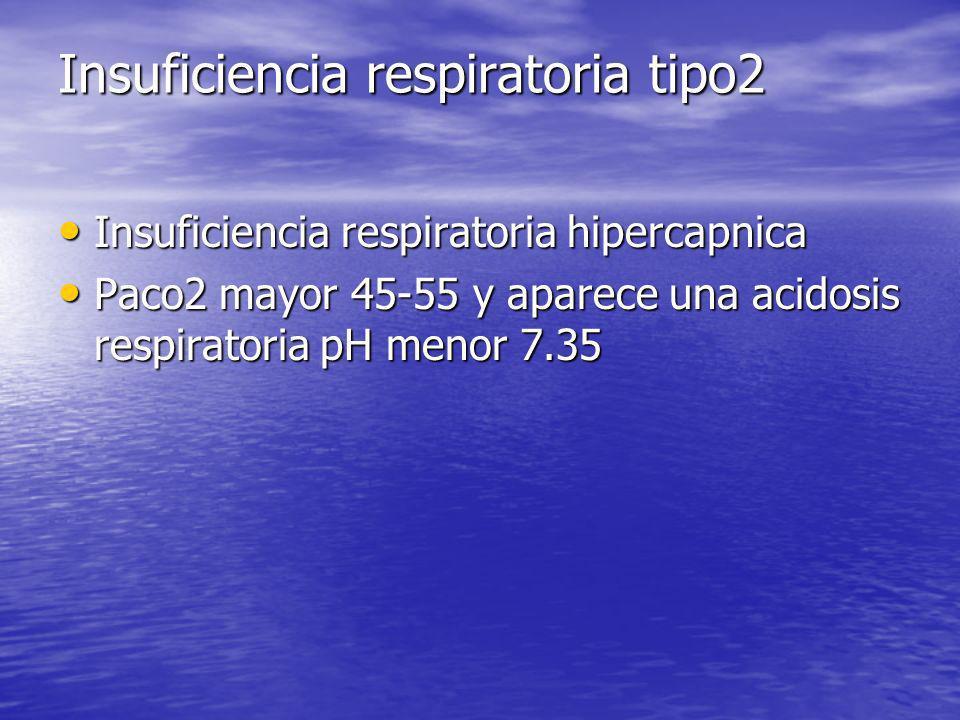 Insuficiencia respiratoria tipo2