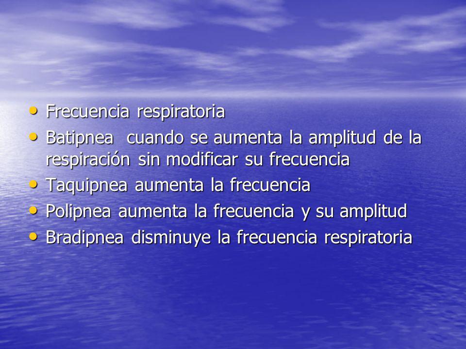 Frecuencia respiratoria