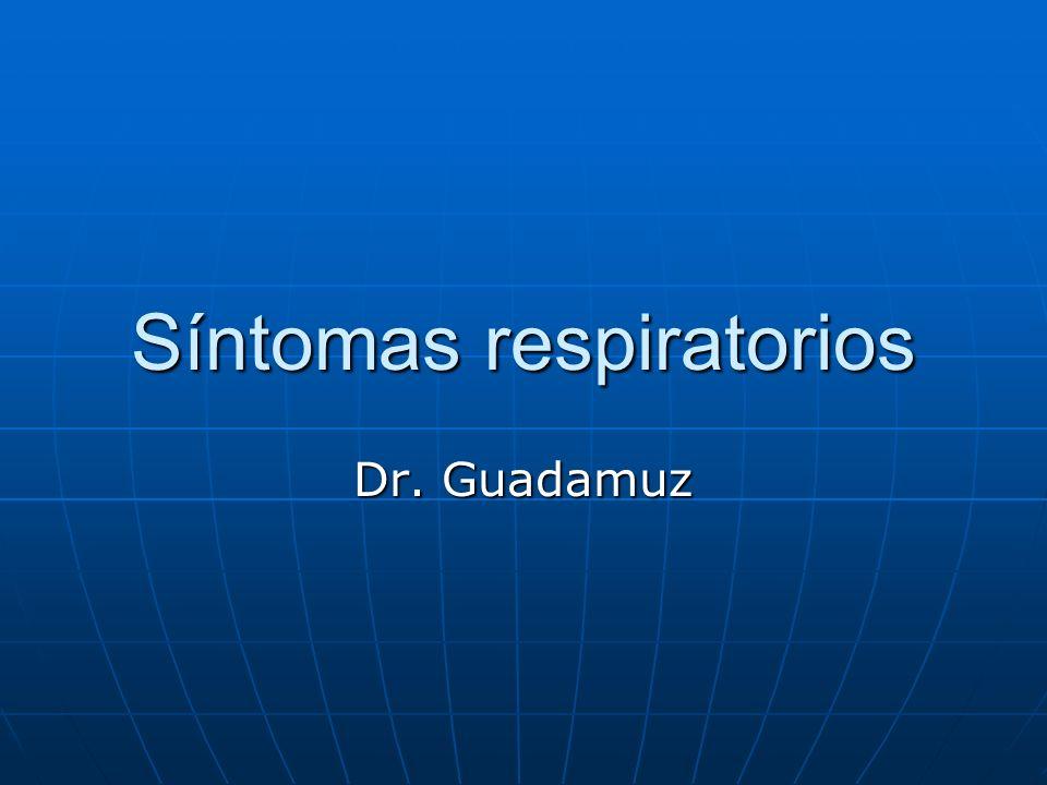 Síntomas respiratorios