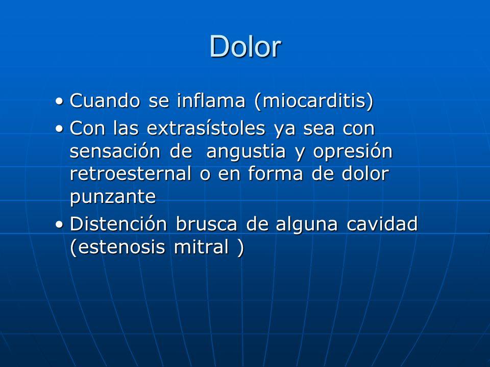 Dolor Cuando se inflama (miocarditis)