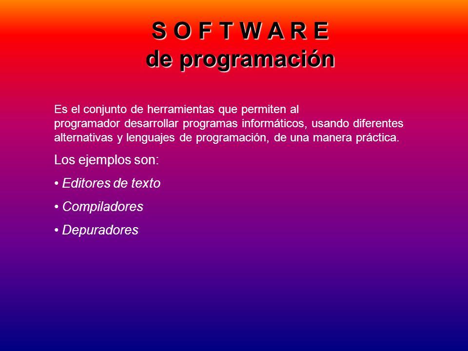 S O F T W A R E de programación