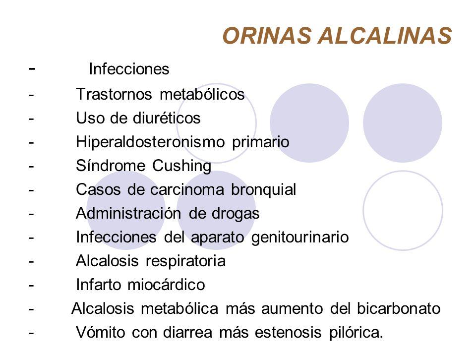 ORINAS ALCALINAS - Infecciones - Trastornos metabólicos