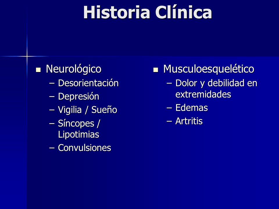 Historia Clínica Neurológico Musculoesquelético Desorientación