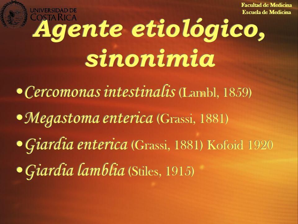 Agente etiológico, sinonimia