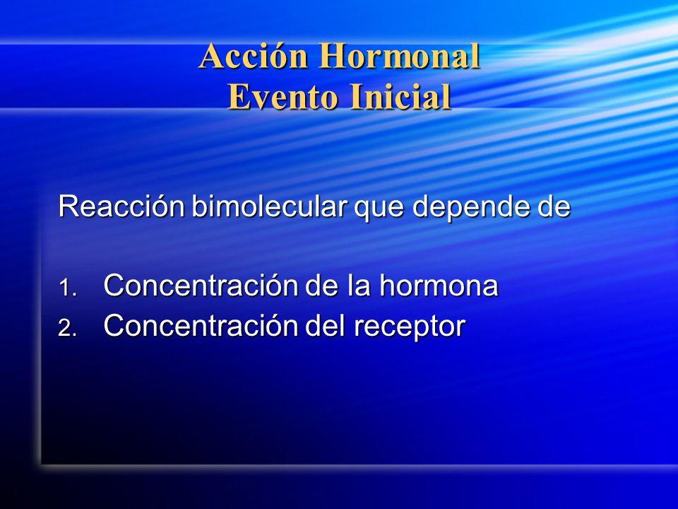 Acción Hormonal Evento Inicial