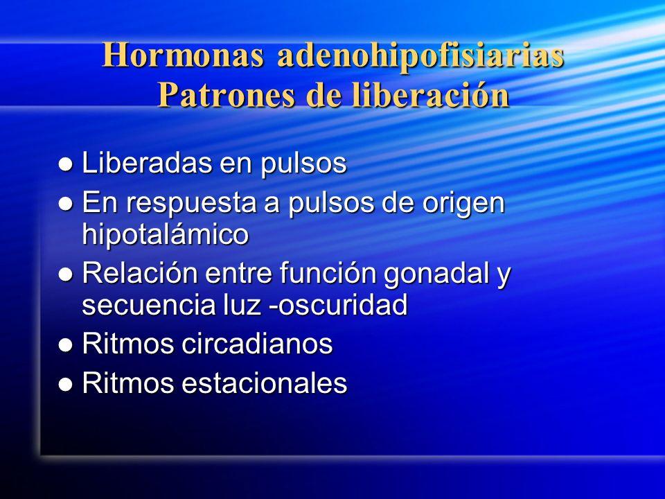 Hormonas adenohipofisiarias Patrones de liberación