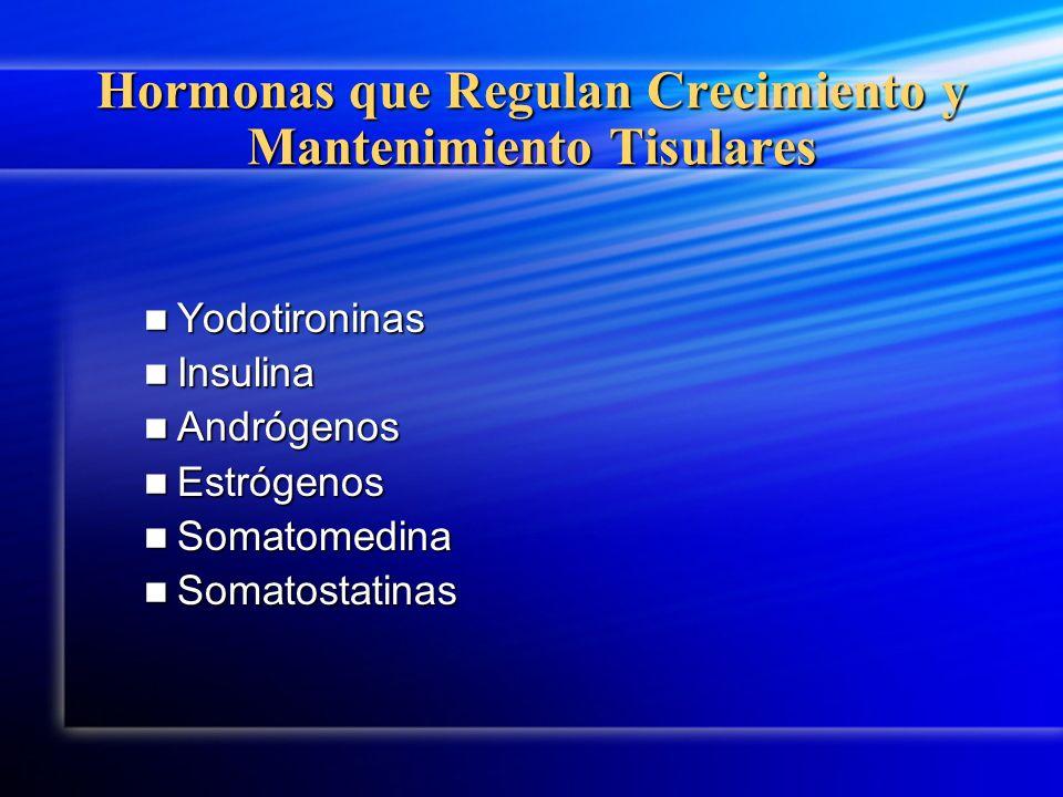 Hormonas que Regulan Crecimiento y Mantenimiento Tisulares