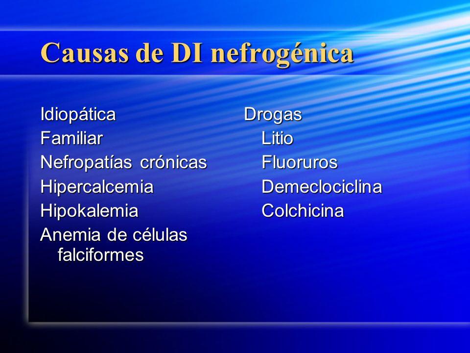 Causas de DI nefrogénica