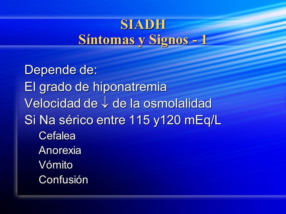 SIADH Síntomas y Signos - 1