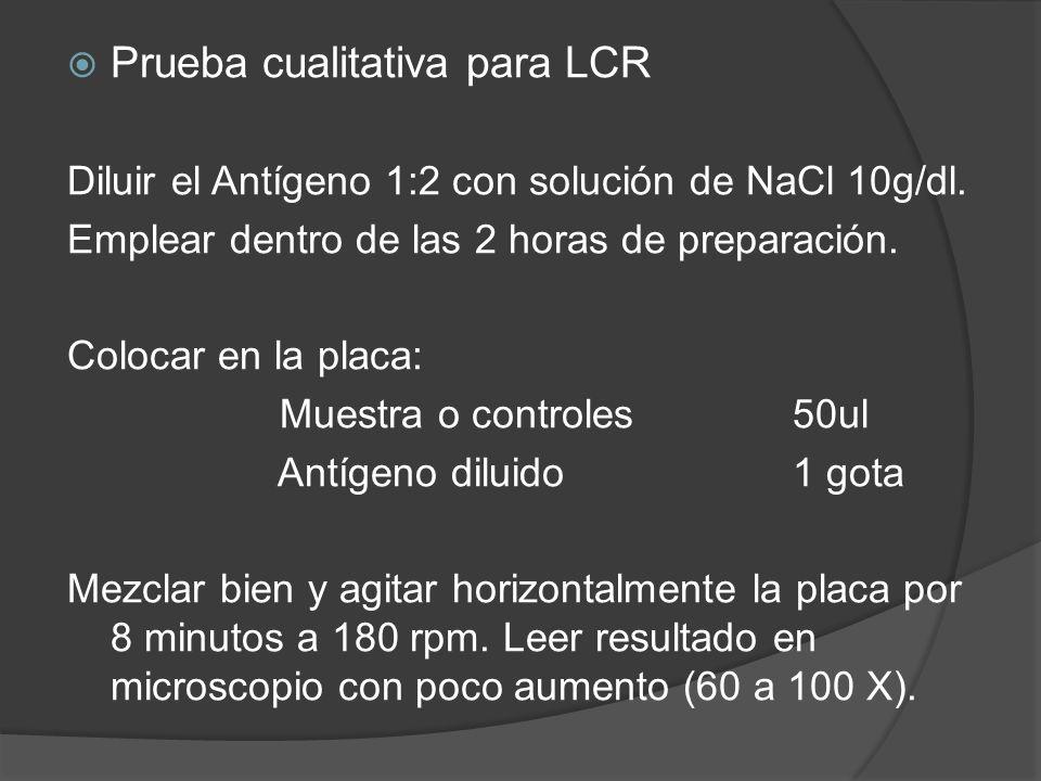 Prueba cualitativa para LCR