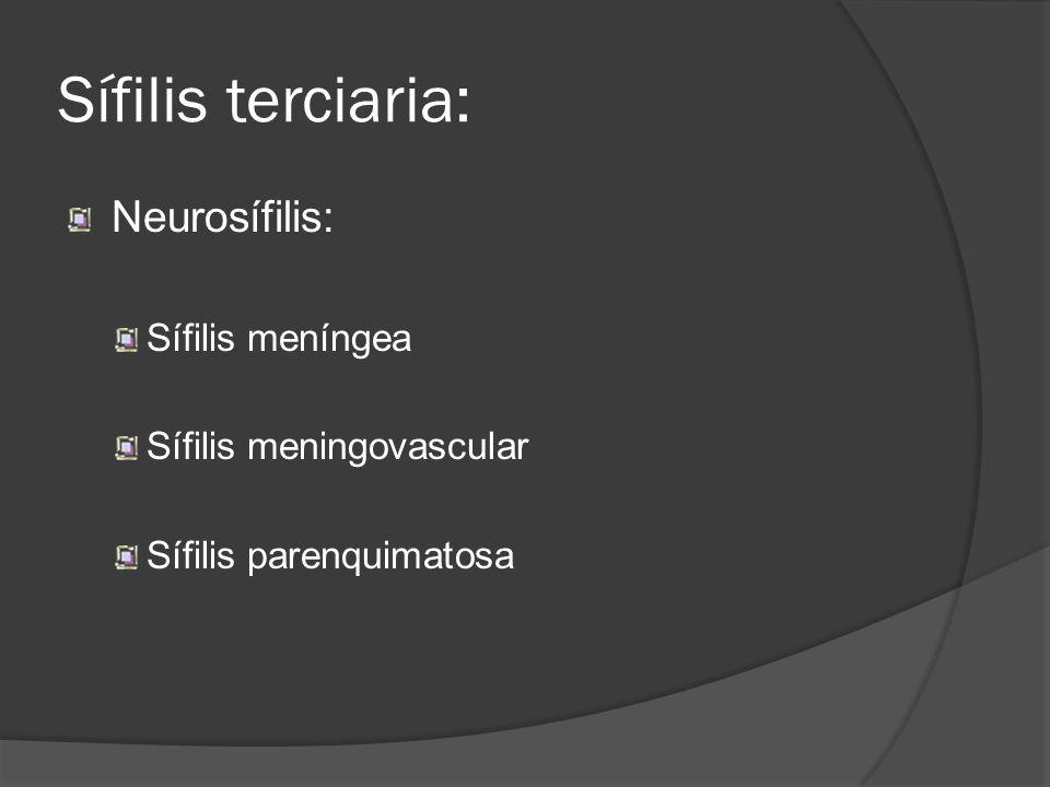 Sífilis terciaria: Neurosífilis: Sífilis meníngea