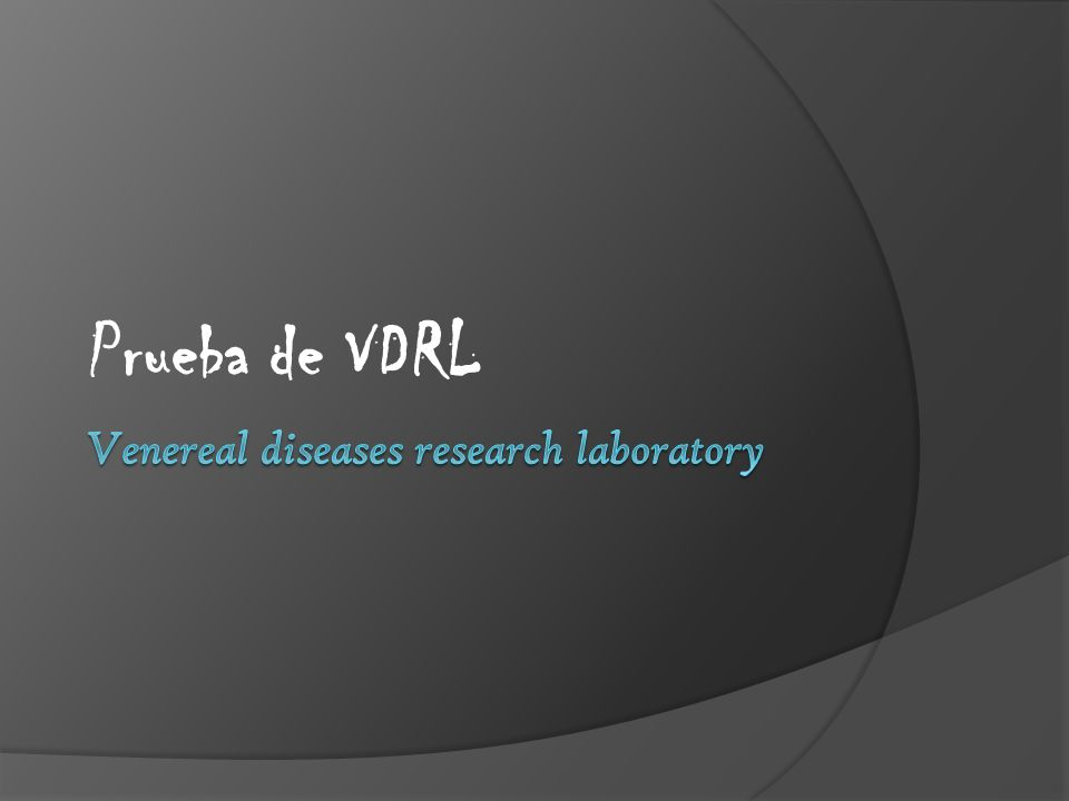 Venereal diseases research laboratory