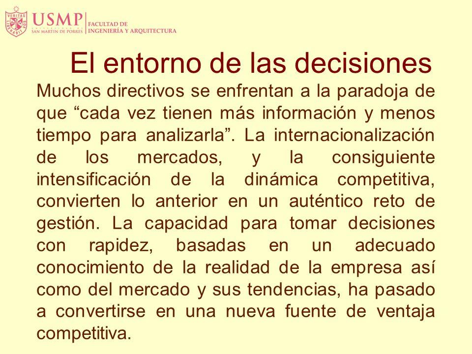 El entorno de las decisiones