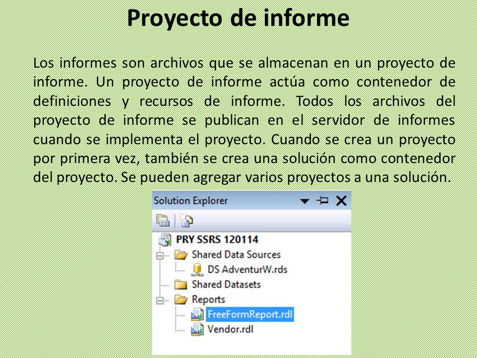Proyecto de informe