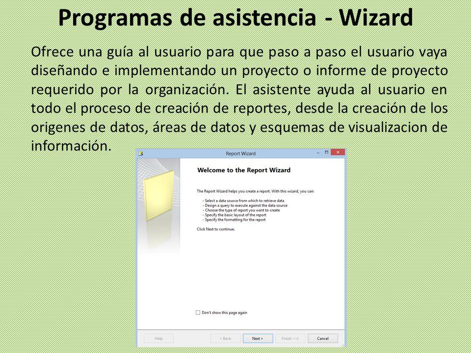 Programas de asistencia - Wizard