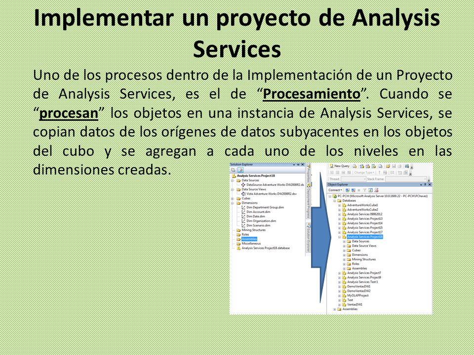 Implementar un proyecto de Analysis Services