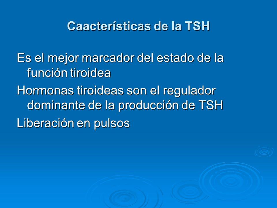 Caacterísticas de la TSH