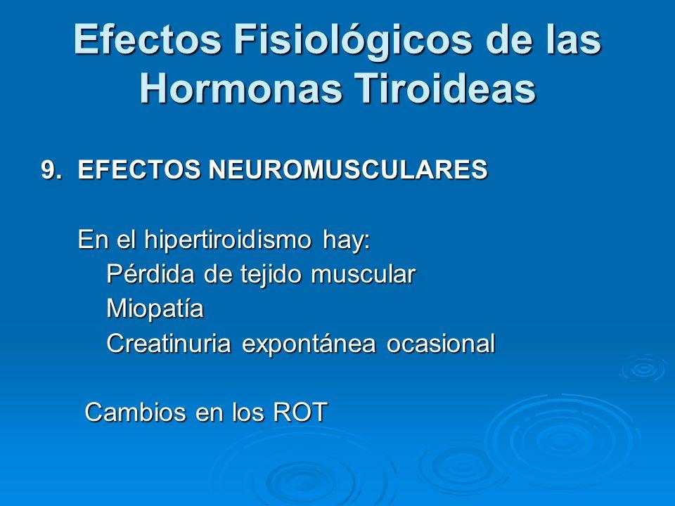 Efectos Fisiológicos de las Hormonas Tiroideas