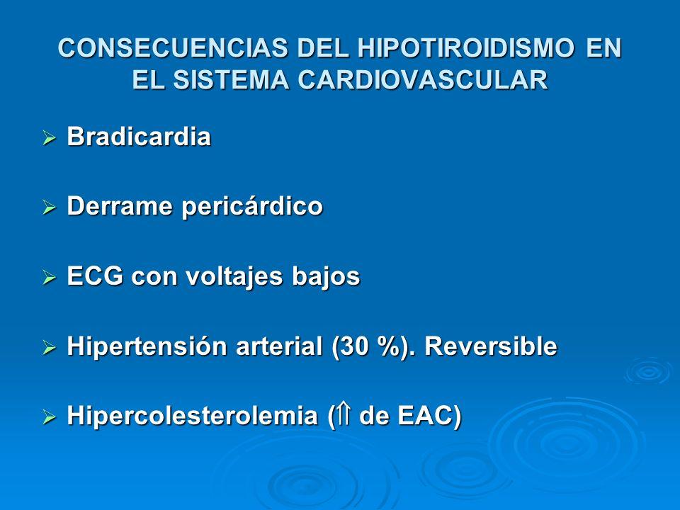 CONSECUENCIAS DEL HIPOTIROIDISMO EN EL SISTEMA CARDIOVASCULAR