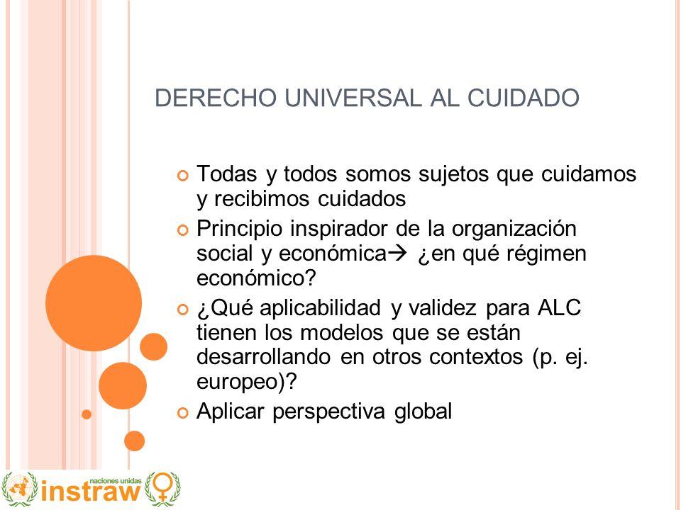 DERECHO UNIVERSAL AL CUIDADO