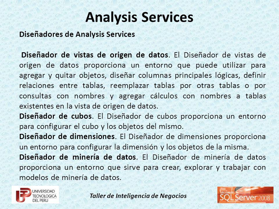 Analysis Services Diseñadores de Analysis Services
