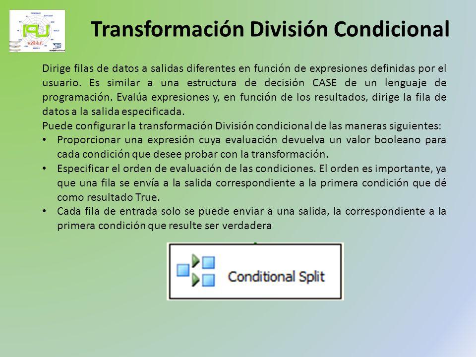 Transformación División Condicional