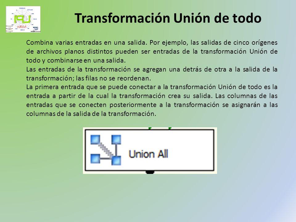 Transformación Unión de todo