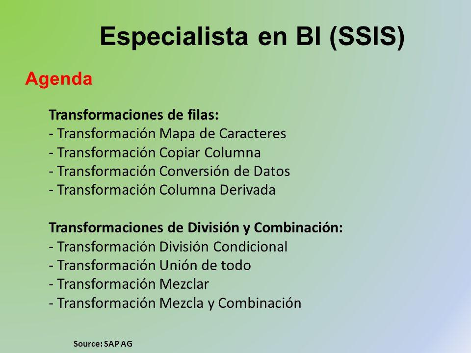 Especialista en BI (SSIS)