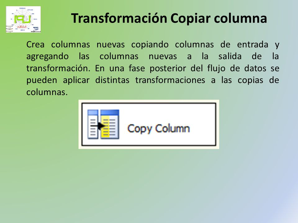Transformación Copiar columna
