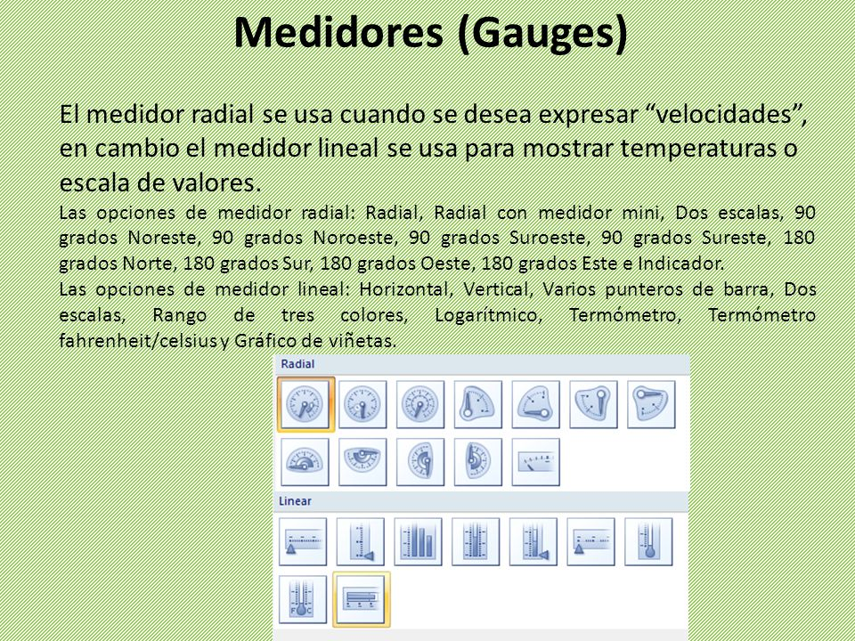 Medidores (Gauges)