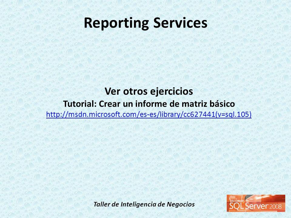 Tutorial: Crear un informe de matriz básico