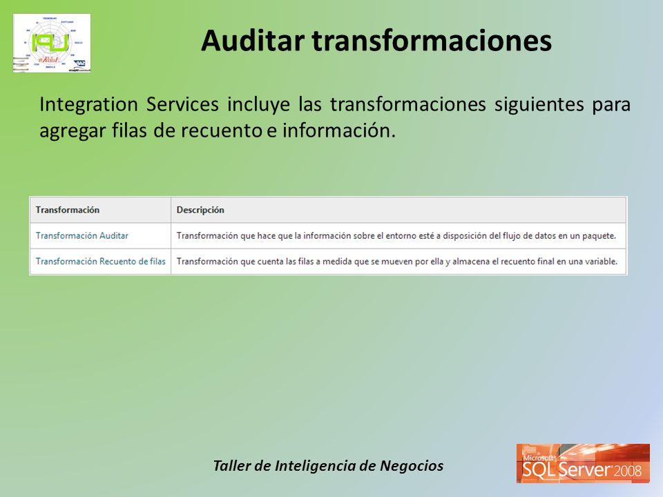 Auditar transformaciones
