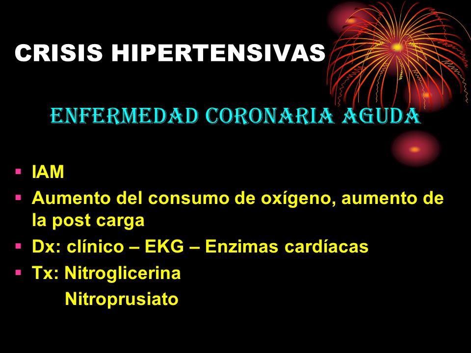 ENFERMEDAD CORONARIA AGUDA