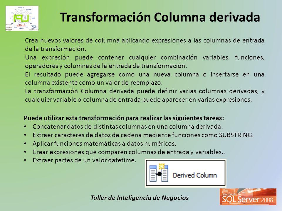 Transformación Columna derivada