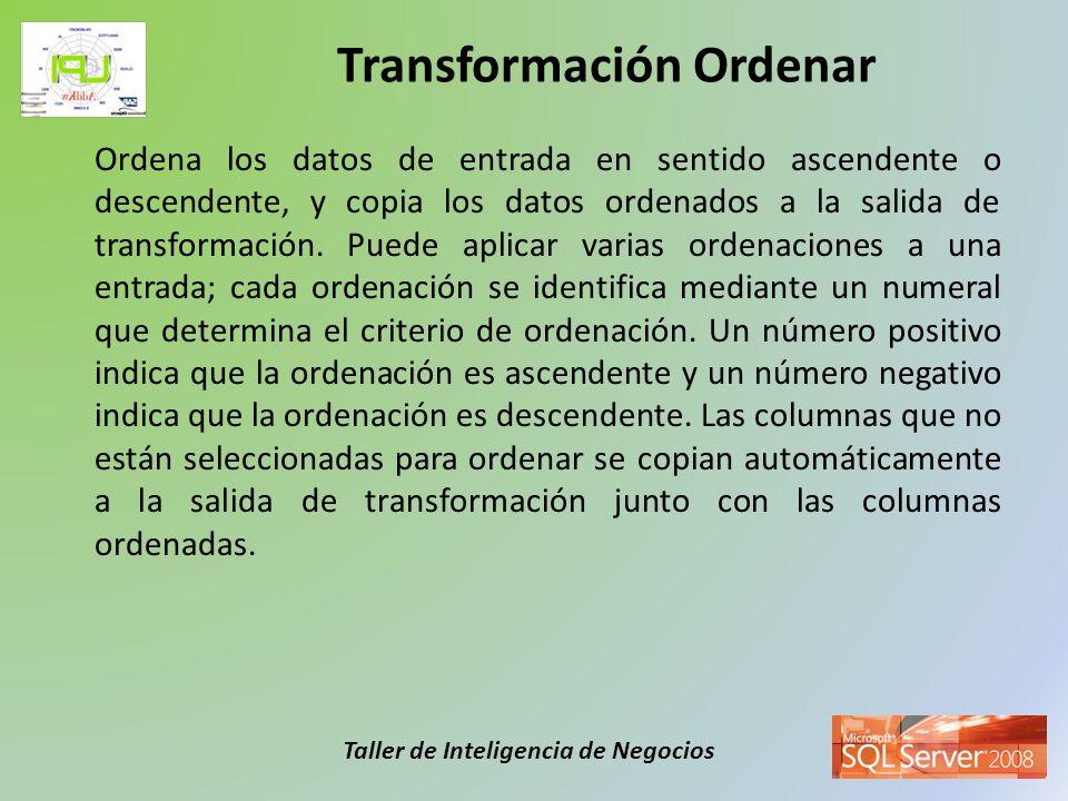 Transformación Ordenar