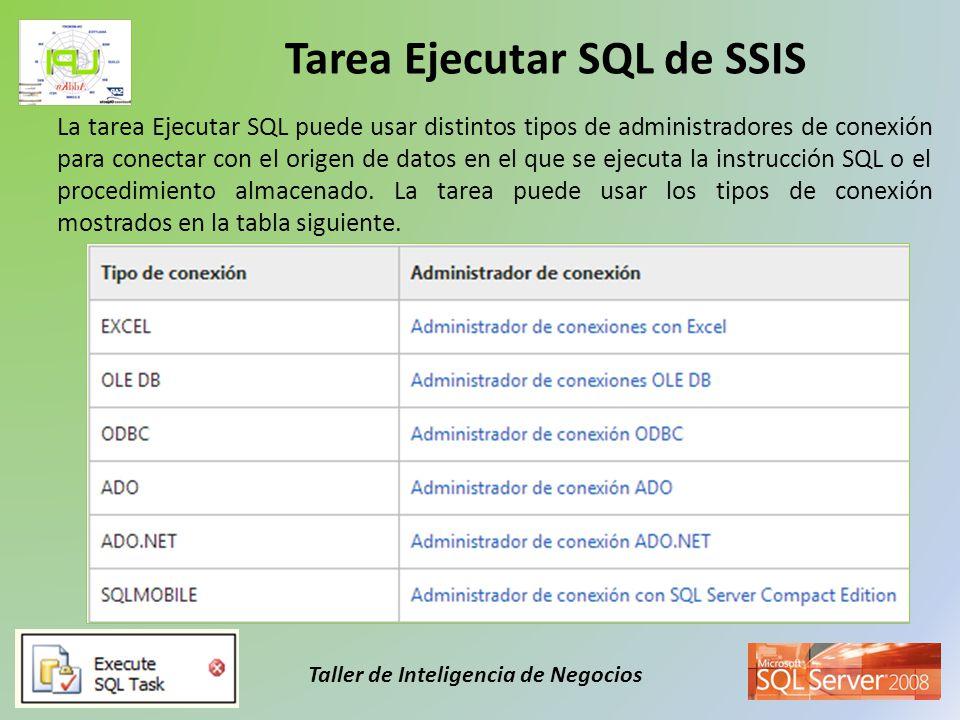 Tarea Ejecutar SQL de SSIS