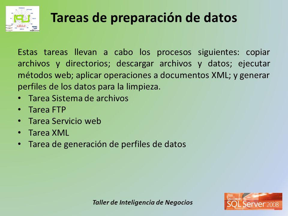 Tareas de preparación de datos