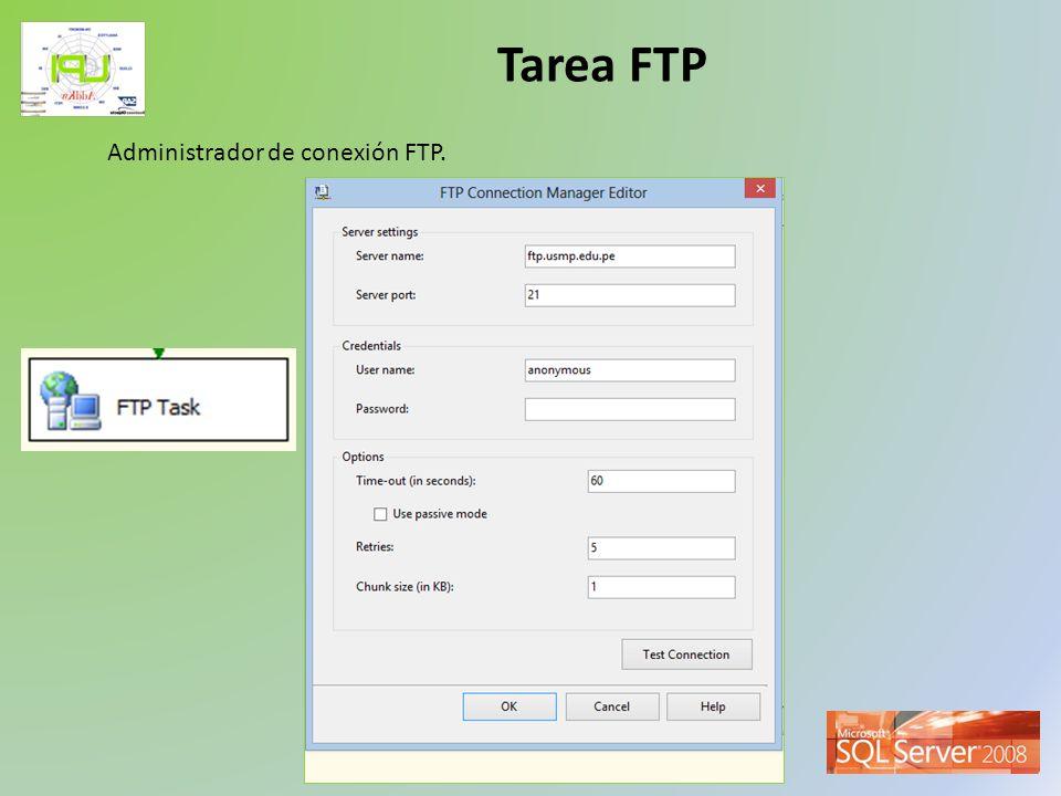 Tarea FTP Administrador de conexión FTP.