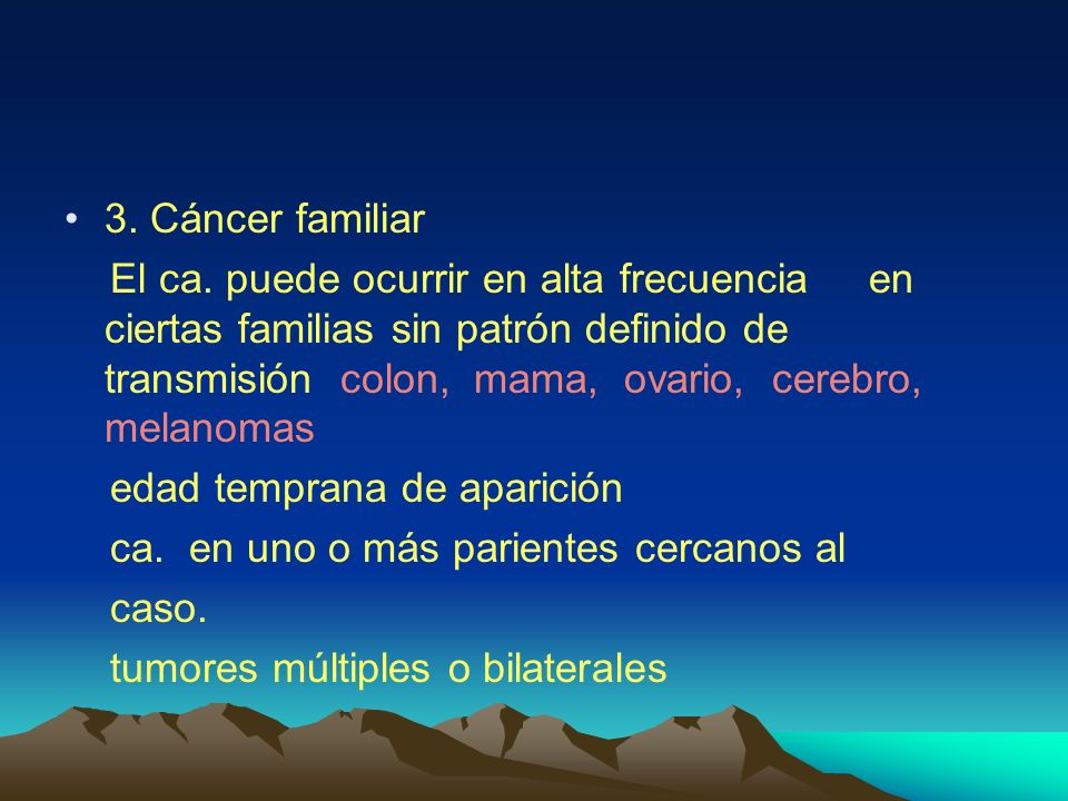 3. Cáncer familiar