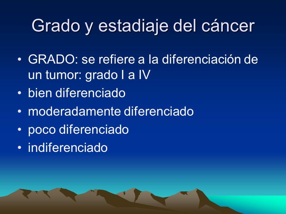 Grado y estadiaje del cáncer