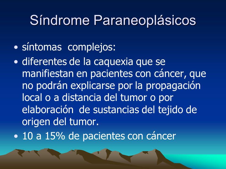 Síndrome Paraneoplásicos
