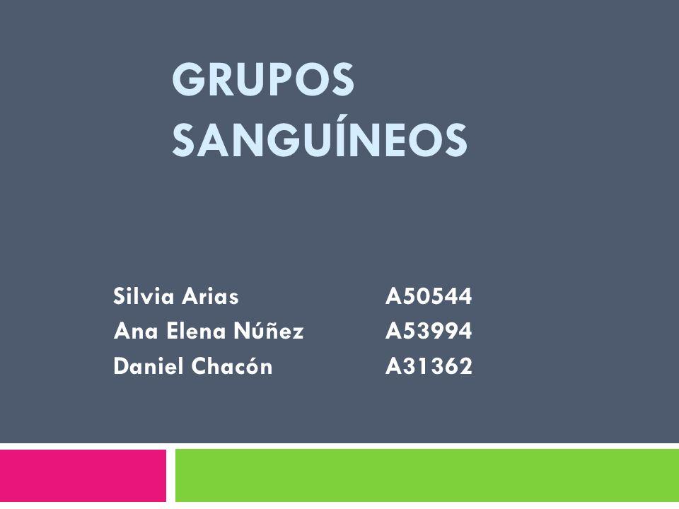 Silvia Arias A50544 Ana Elena Núñez A53994 Daniel Chacón A31362