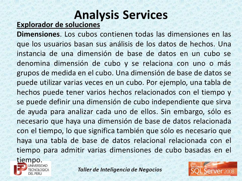 Analysis Services Explorador de soluciones