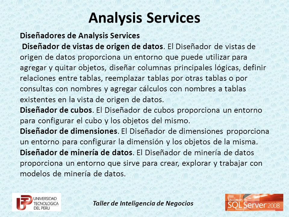 Analysis Services