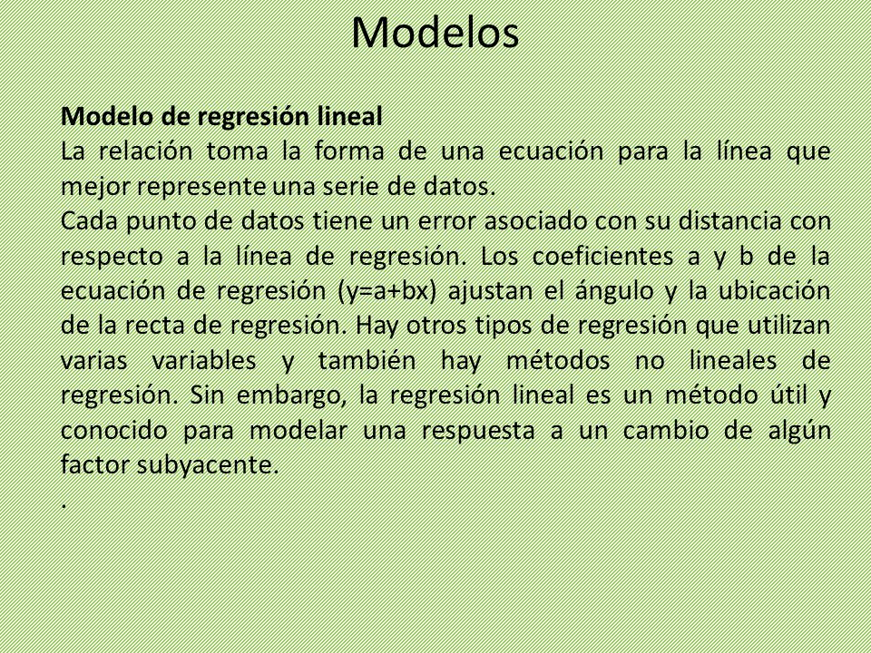 Modelos Modelo de regresión lineal