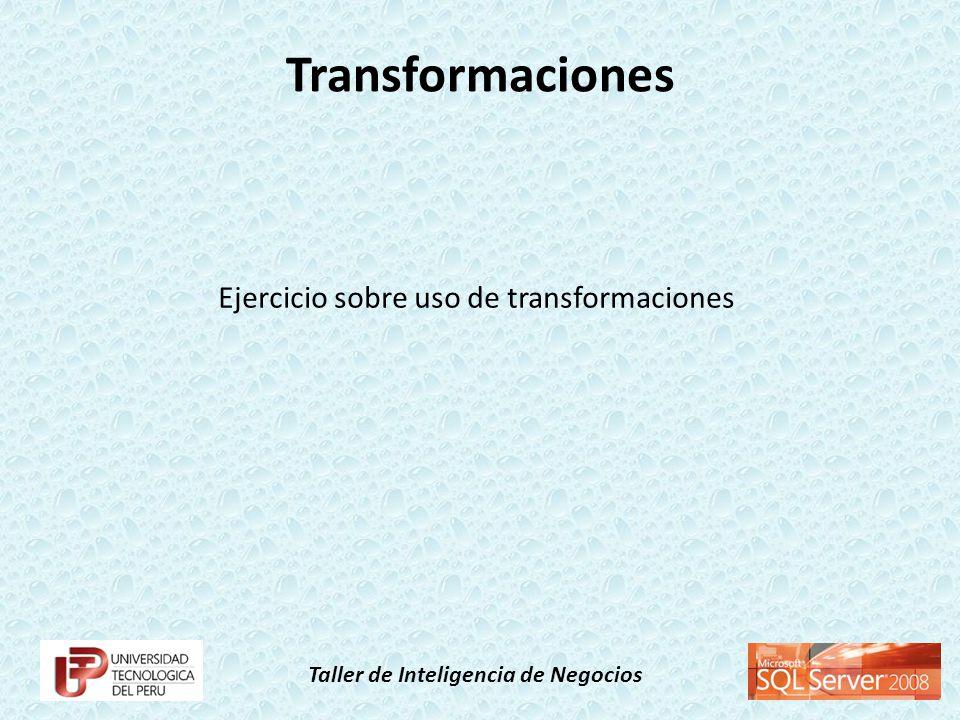 Ejercicio sobre uso de transformaciones